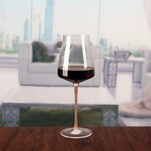 Wide mouth led wine glasses high quality hand cut wine glass wholesale