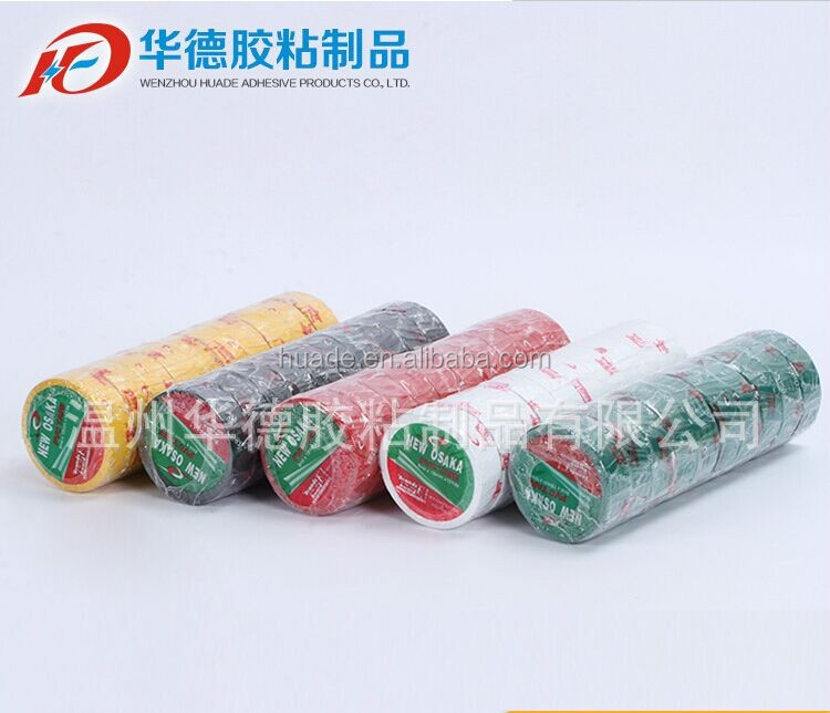 Colorful PVC rubber adhesive insulation/electric tape