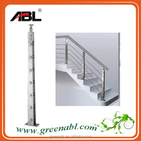 ABL SS304 stainless steel concrete balustrade outdoor metal handrail for steps in high standard quality