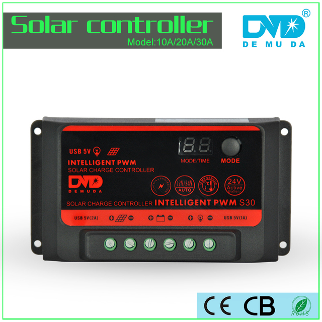 Newest design 24v 12v 10A solar tracker controller solar water heater controller with USB