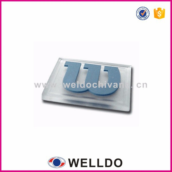 Garment logo transparent pvc rubber label