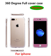 Hot sale Ultra Thin 360 Degrees Full Cover Tpu Phone Case For Iphone 5 5s 6 6s 7 plus Crystal Clear Case