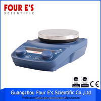 Aluminum alloy housing light weight led digital display laboratory hotplate 5 inch round magnetic stirrer