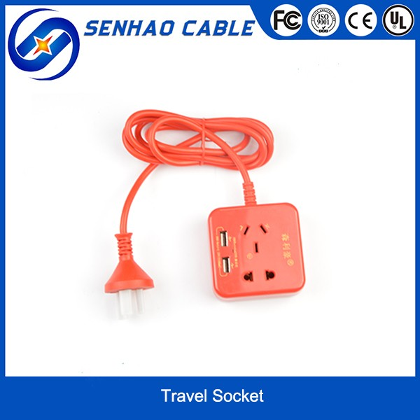 3 Pin British Socket with USB