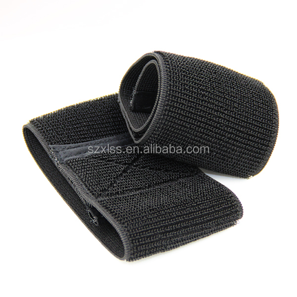 New custom black strong stretch tape elastic bungee straps