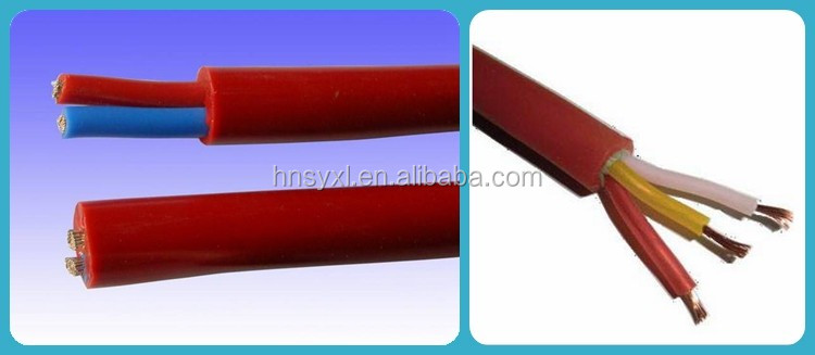Flexible cable high temperature rubber insulation power cable with copper conductor