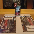customized el flash lighted restaurant table stand menu list with animation display