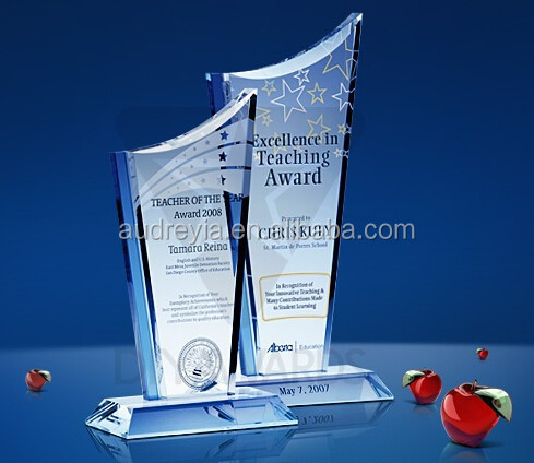 custom design K9 crystal plaque trophy wholesale