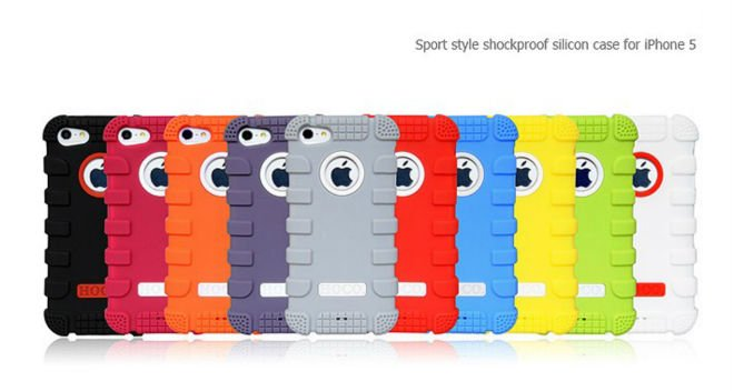 New mobile phone cover Silicone for iPhone5 each in detail box