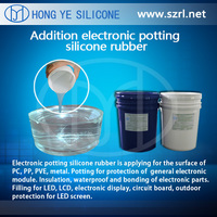 Two part liquid silicone rubber for electronic, potting encapsulation silicone