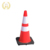 Hot sale products 28 inch road reflective plastic safety flexible black rubber base orange pvc traffic cone