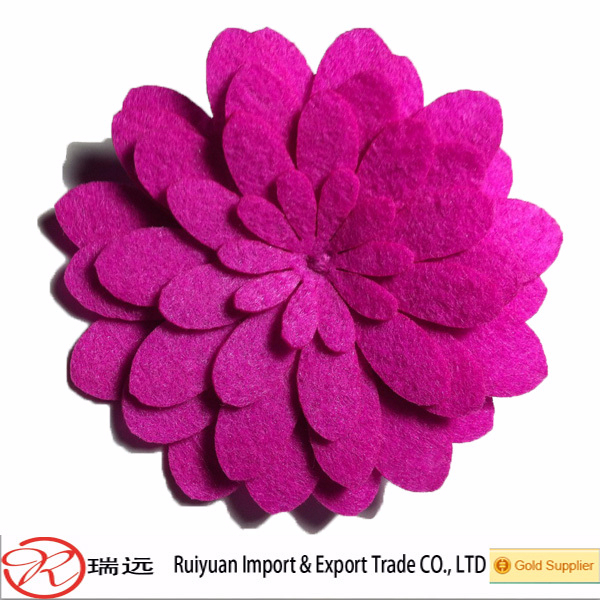 Alibaba Bulk Wholesale Beautiful Artifical Decoration Felt Flowers From China Supplier