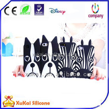 2016 Fashion Zebra Dog Silicone Phone Case
