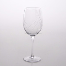 Hot Selling Handmade Glassware Hand cut Red Wine Glass