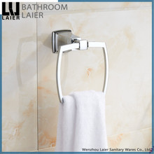 new modern American design zinc alloy chrome bathroom set accessories square towel ring