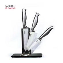 High Quality Private Lable Ceramic Zirconia Kitchen Knife Block Set With Stainless Steel Handle