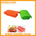 Food grade rectangle shape collapsible silicone lunch box