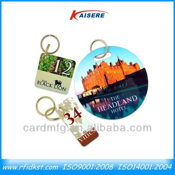 Custom plastic key card, PVC keychain