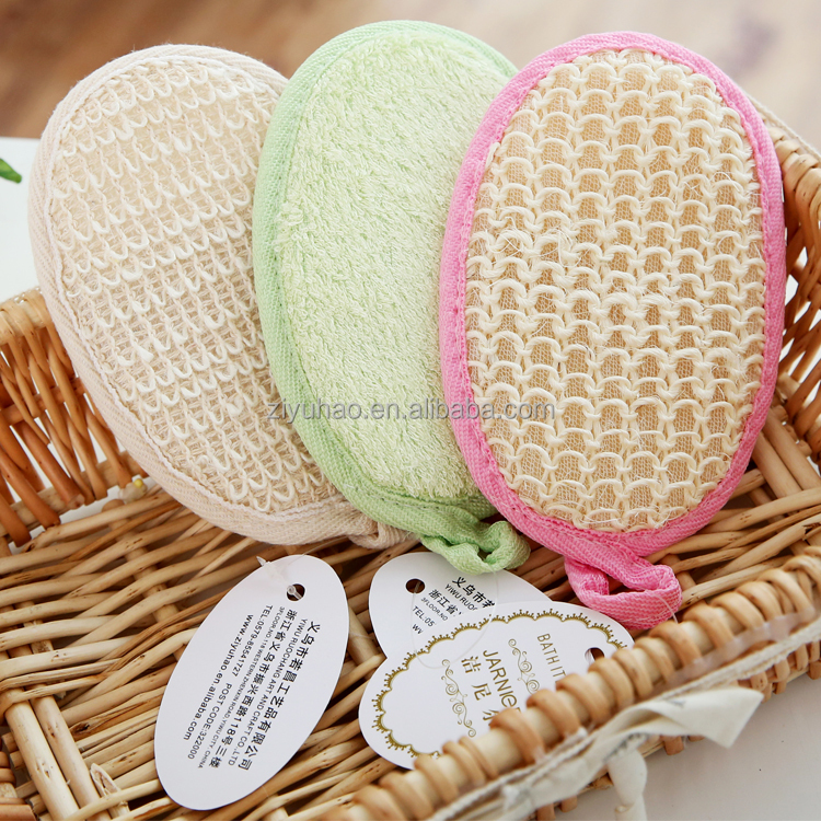 High quality and best-selling soft loofah bath sponge,bath back scrubber for men
