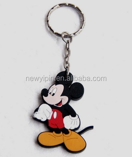 Custom made Mickey Mouse one side 3d pvc keychain for events