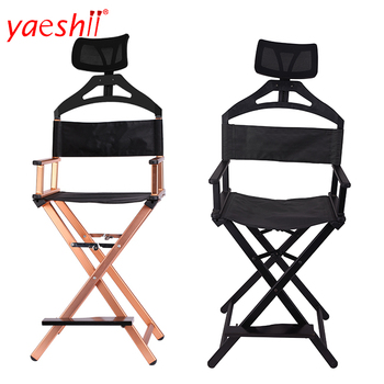Yaeshii Portable Custom Folding Professional High Aluminum Telescopic Directors Cosmetic Make up Artist Chair With Headrest