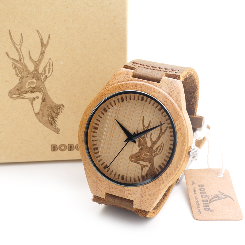 2017 BOBO BIRD Wooden Fashion Quartz Watch with custom design design your own bamboo wooden watch As Gift Customized