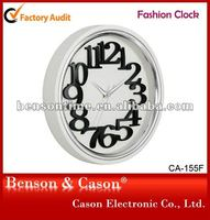 Wall Clock With Plating Bezel