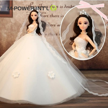 2018 New baby toys dress up baby doll pretty wedding dress doll for girls birthday gift
