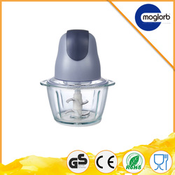 Low price good quality mini chopper with two blade and glass cup