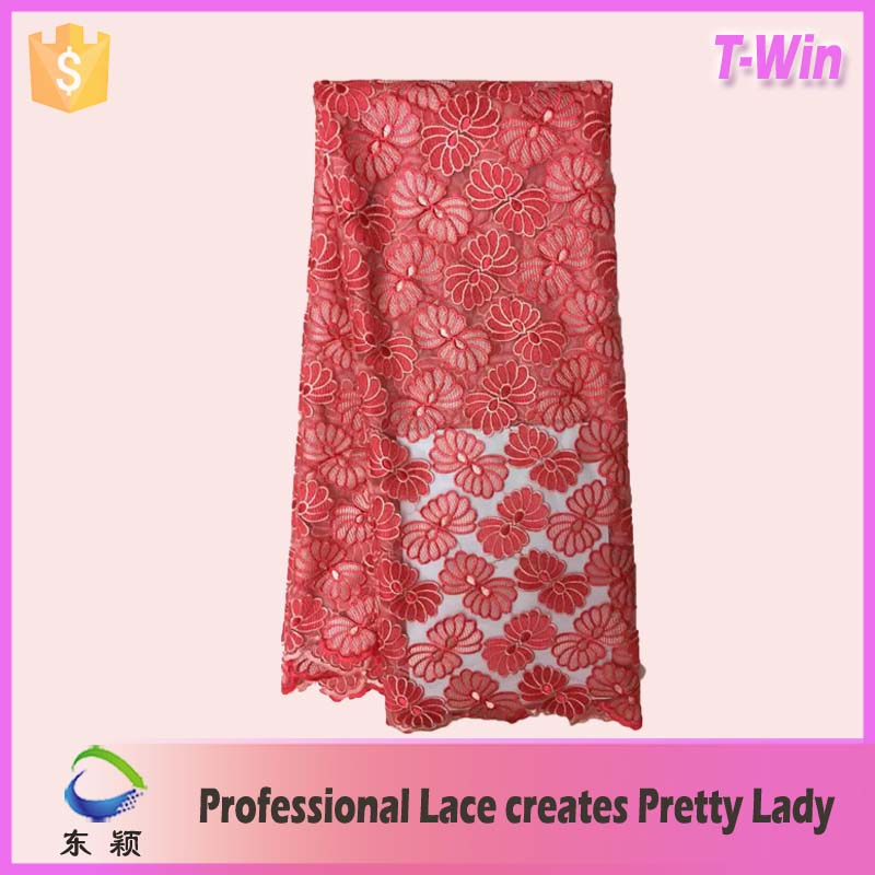 2017 latest african cord lace fashionable african velvet lace for bridal lace