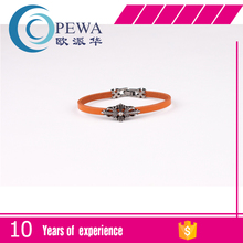 Wholesale of Europe and the United States sell like hot cakes woman crow heart cross stainless steel bracelet