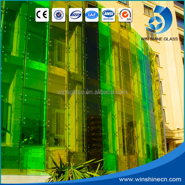 Color bulletproof auto glass for window