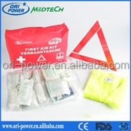OP hot sale ISO FDA CE approved compact practical manufacture price vehicle motorcycle red first aid bag