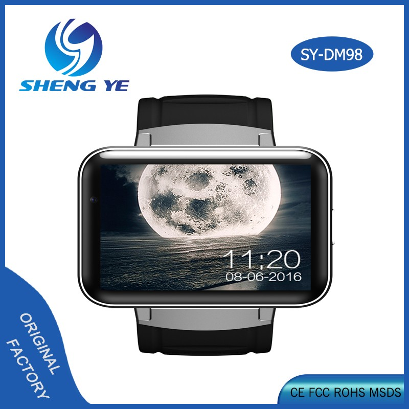 wholesale smart watch 2.2 inch big screen 3G <strong>WIFI</strong> DM98 Android smart watch phone 900mAh