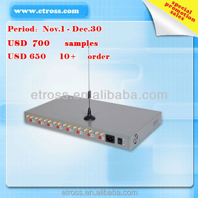 ET-8264 8 Ports 64 sims cards gsm gateway for voip call termination IMEI/SIM changer rotation Sim Rotation no need waiting