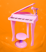 children musical instrument electric piano toy with microphone