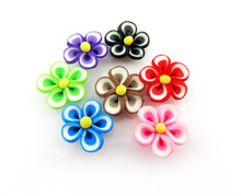 HOT! 2016 latest DIY 3D handmade colorful polymer clay flowers
