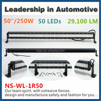 Top quality 250w truck led lightbar 50 inch cree led light bar for offroad wholesale