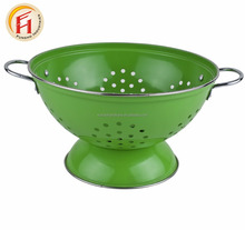 Color Metal Enamel multi-functional stainless steel fruit rice colander for kitchen