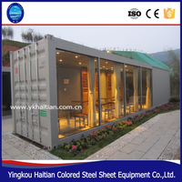 two side slope small villa prefabricated container house for sale