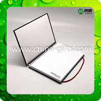 Cardboard Cover Spiral Notebook With Elastic