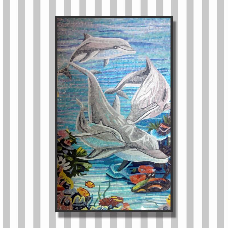 Ljo jy jh oc02 mundo submarino pintura de mosaico azulejos - Precio de pintura para azulejos ...