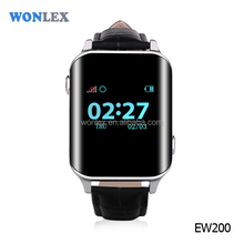 2017 Wonlex senior citizen gps watch with heart rate monitor mobile phone watch for old man EW200