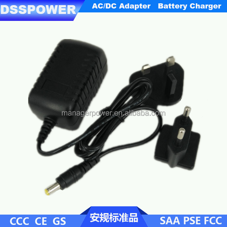 AC plug can changeable series 12V charger 14.4V2A lead acid battery charger