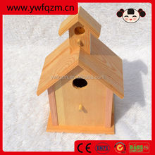 factory direct new unfinished wooden bird house wholesale