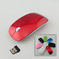 Hot New Optical Wireless 2.4 GHZ Laptop PC Computer Netbook Mouse 4 Keys 1600 dpi High Quality Wheel Mouse Red