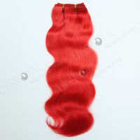 2015 new arrival best quality 100% virgin brazilian body wave red human hair weaving