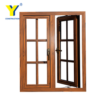Wooden aluminum window/Aluminium double glazed Windows and Doors Comply with Australian & NZ standards
