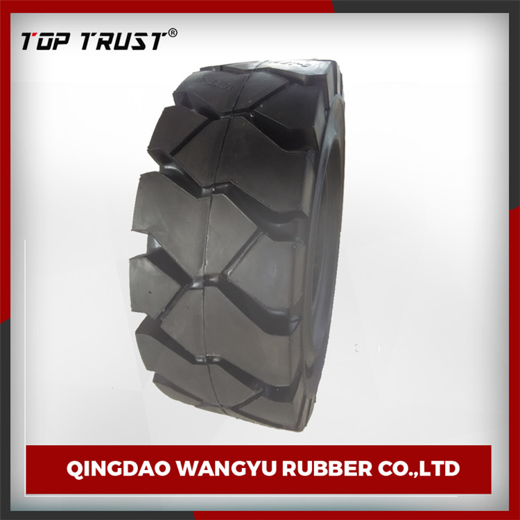 thick tread pattern industrial non mark 8.15-15 forklift tire