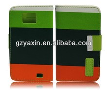 Mobile phone Leather case For samsung galaxy s2 Wallet Style,for case samsung galaxy s2 lte